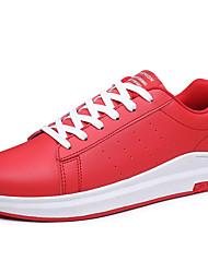 chaussures de sport en cuir confort chute d'été lacée décontractée en plein air rouge blanc noir