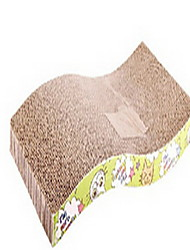 Cat Toy Pet Toys Interactive Scratch Pad Paper Wood Brown