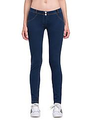 Vansydical® Women's Running Leggings Bottoms Quick Dry Spring Summer Running Terylene Loose Outdoor clothing Royal Blue Classic
