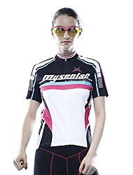 Mysenlan Cycling Jersey Women's Short Sleeve Bike Jersey Breathable Polyester Classic Summer Blue Black
