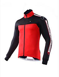 Mysenlan Men's Bike Fleece Jackets Polyester Classic Winter Red Green