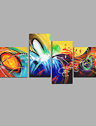 Hand-Painted Abstract Any Shape,Modern Four Panels Canvas Oil Painting For Home Decoration