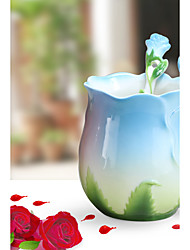 Neuartige Klassisch Gehen Trinkbecher, 40 ml Wärmeisoliert Keramik Kaffee Milch Kaffeetassen