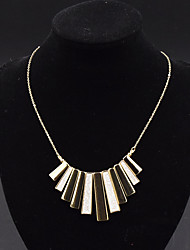 Women's Pendant Necklaces Statement Necklaces Jewelry Alloy Jewelry Geometric Euramerican Statement Jewelry Punk Fashion Personalized Gold