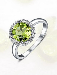 Ring Silver Fashion Light Green Jewelry Daily Casual 1pc