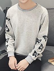 2017 Rundhals Pullover Ärmel Pullover Männer gut aussehend Blumen Schmetterling Fantasie