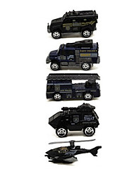 Fire Engine Vehicle Vehicle Playsets Car Toys 1:64 Metal Plastic Black Model & Building Toy