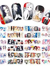 1pcs 12design Cool Girl Water Transfer Decals Nail Art Sticker Makeup Beauty Nail Art Design BN277-288