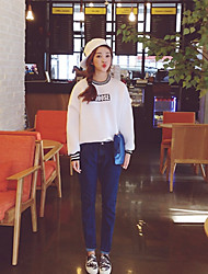 Sign new Korean students loaded loose big yards plus thick velvet round neck sweater female long-sleeved shirt