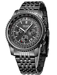 MEGIR Men's Women's Unisex Sport Watch Dress Watch Skeleton Watch Fashion Watch Wrist watch Quartz Calendar Alloy Band Charm Casual