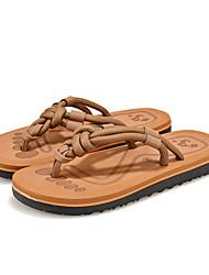 Men's Slippers & Flip-Flops Spring Summer Fall Comfort Light Soles PU Outdoor Casual Flat Heel  Walking Shoes