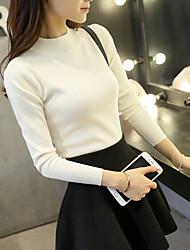 nouvelles femmes de la moitié des femmes épais à manches longues korean pull à col roulé mince chemise talonnage mince couverture