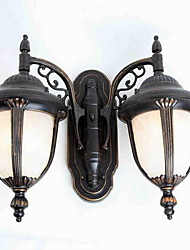 European Double-headed Outdoor Wall Lamp