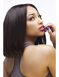 Excellent Lovely Bob Style Natural Looking Remy Short Silky Straight Brazilian Virgin Human Hair Glueless Full Lace Human Hair Wigs For Black Women