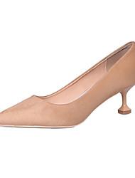 Women's Loafers & Slip-Ons Spring Comfort PU Outdoor Low Heel Black Light Pink Khaki Walking