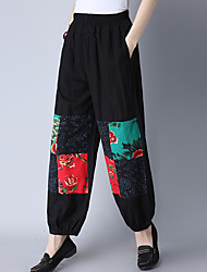 Literary lantern loose cotton trousers