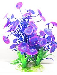 Оформление аквариума Водное растение Искусственная Пластик Лиловый