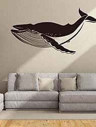 Cartoon Big Fish Begonia Wall Sticker Vinyl Material Home Decoration