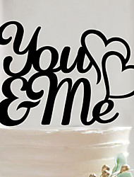 Acrylic You & Me Cake Topper Non-personalized Acrylic Wedding / Anniversary / Bridal Shower  13.3*14.6cm