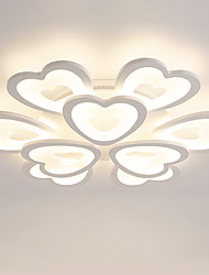 9 Heads Heart shaped Design Modern Style Simplicity LED Ceiling Lamp Metal Flush Mount Living Room light Fixture