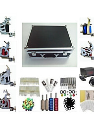 Basekey Tattoo Kit K226 6 Machines Machine With Power Supply Grips Cleaning Brush Needles Ink