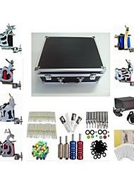 tatuagem basekey k226 kit máquina de 6 máquinas com apertos de fornecimento de energia de limpeza agulhas escova da tinta