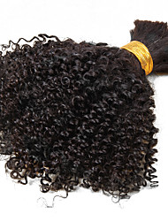 Brazilian Kinky Curly Bulk Hair No Weave Natural Color Virgin Kinky Curl Bulk Extensions 1pcs/set