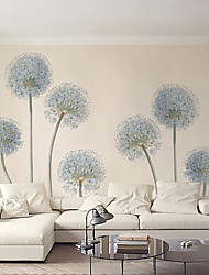 Art Deco Wallpaper For Home Wall Covering Canvas Adhesive Required Mural Light Blue Dandelion Simple Style XXXL(448*280cm)