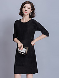 Sign 2017 new spring pressure pleated dress
