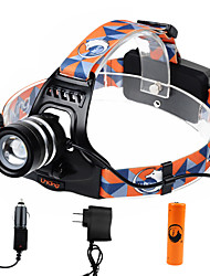 U'king ZQ-G70000CBlack CREE T6 LED 2000LM 3Mode Adjustable Focus Headlamp Bike Light Kit for Camping/Hiking/Caving Everyday Use Cycling