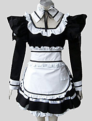 Outfits Gothic Lolita Rococo Cosplay Lolita Dress Solid Long Sleeve Long Length Dress Apron Petticoat For Cotton