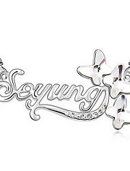 Ожерелья с подвесками Кристалл Одинарная цепочка Крестообразной формы Австрийские кристаллы Сплав Базовый дизайн Мода Бижутерия Назначение