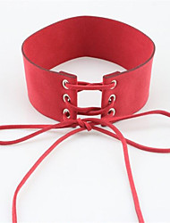 Necklace Non Stone Choker Necklaces Jewelry Party Birthday Daily Casual Circle Basic Design Ribbons Crossover Punk Hip-Hop Leather 1pc