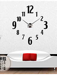 Ретро Настенные часы,Круглый Акрил Прочее 31*39 В помещении Часы