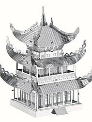 3D Puzzles Metal Puzzles For Gift  Building Blocks Model & Building Toy Famous buildings Chinese Architecture Architecture Metal14 Years