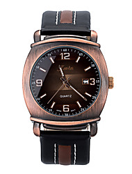 Men's Fashion Watch Japanese Quartz Leather Band Black