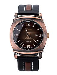 Мужской Модные часы Японский кварц Кожа Группа Черный марка