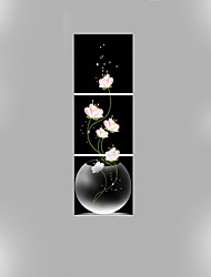 Canvas Set Floral/Botanical Modern Traditional,Three Panels Vertical Print Wall Decor For Home Decoration