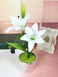 1PCS Simulation Small Potted Small Lily Simulation Flower Suit Home Furnishings