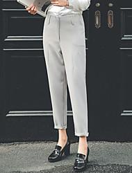 Sign -2017 leisure suit pants spring was thin waist harem pants female Korean nine feet long pants