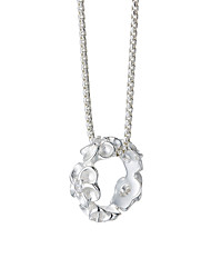 SILVERAGE Genuine 925 Sterling Silver Fine Jewelry Flower Garland Cubic Zirconia Pendant Necklaces Women Hot New Top Quality18