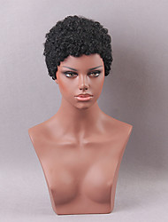 Hair Faddish Short Curly Human Hair Wig
