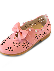 Girl's Loafers & Slip-Ons Spring Summer Fall Comfort Light Soles PU Outdoor Casual Flat Heel Bowknot Walking Shoes