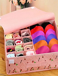 Storage Boxes Textile withFeature is Lidded  For Underwear Storage Box 15 Grid