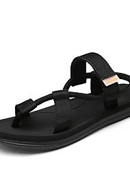 Sandals Summer Gladiator PU Outdoor Casual Flat Heel Buckle Black Light Brown Dark Grey