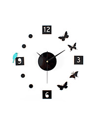 DIY Creative Bird Butterfly Mute Wall Clock