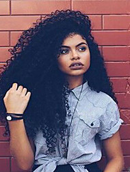 Cheap Long Curly Hair Wigs High Quality Brazilian Human Virgin Hair Wigs For Black Woman Natural Black Color Glueless Lace Front Wigs With Baby Hair