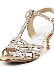 Sandals Spring Summer Fall Club Shoes T-Strap Glitter Party & Evening Dress Casual Stiletto Heel Jewelry Heel Rhinestone Sequin Buckle