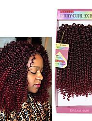 Encaracolado Tranças Curly Extensões de cabelo fibra sintética Tranças de cabelo
