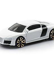 Voiture de Course Jouets Jouets de voiture 1:64 Métal Plastique Blanc Maquette & Jeu de Construction